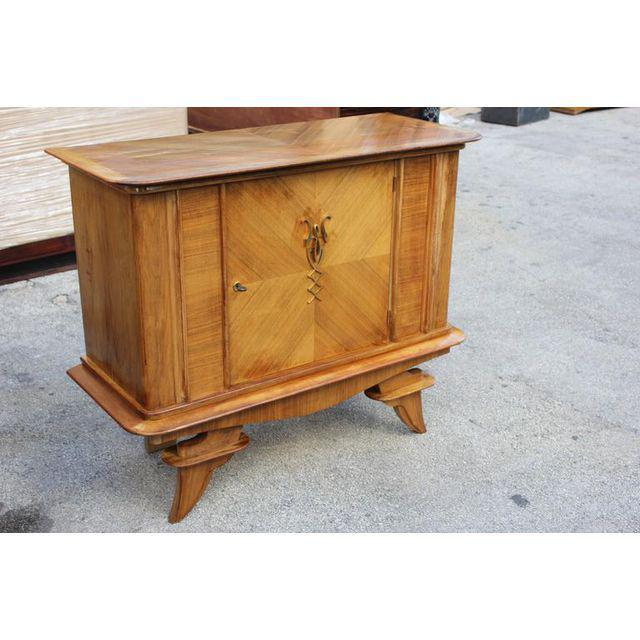 French Art Deco-style designer Rosewood sideboard / Credenza Circa 1940s From France Paris. Dimensions 46.25ʺW × 19.25ʺD ×...