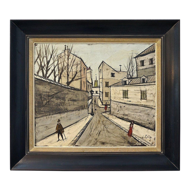 Mid-Century Oil Painting by French Artist Charles Levier For Sale
