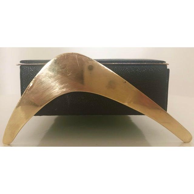 Leather/Brass Atomic Jewelry Box - Image 4 of 11