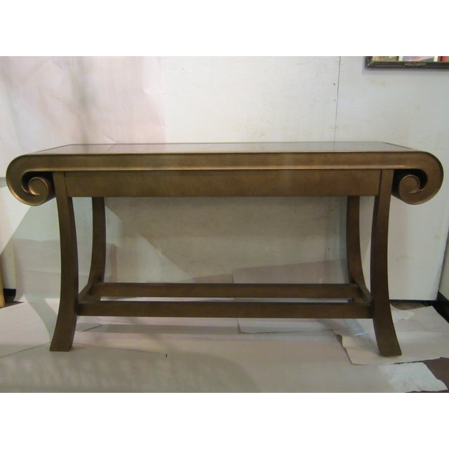 Aged Bronze Finish Console by Century Furniture - Image 2 of 8