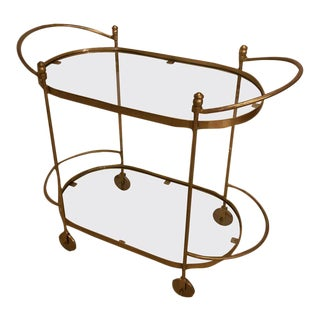 Fine Iron Bar Serving or Tea Carts or Trolley with Glass Shelves