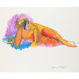 Alysanne McGaffey Colorful Bay Area Figurative Painting, Circa 1950s- 1960s Circa 1950s-1950s For Sale