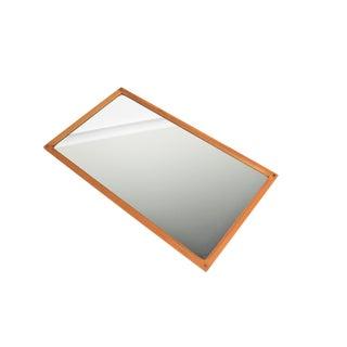 Aksel Kjersgaard Mid Century Oak Wall Mirror For Sale