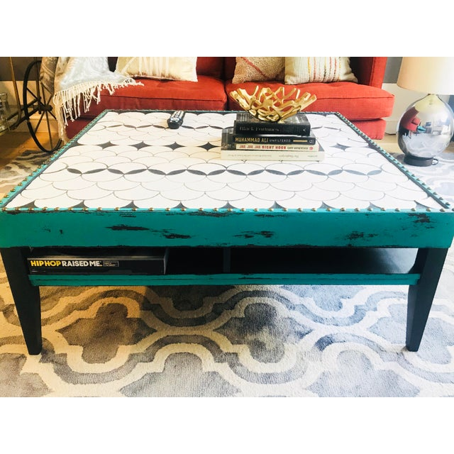 2010s Tile Top Coffee Table For Sale - Image 5 of 13