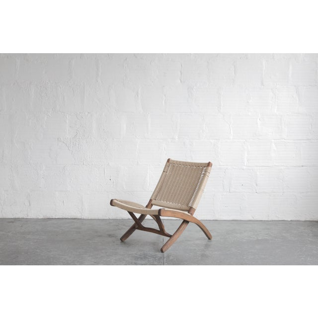 Brown Early 20th Century Cord Lounge Chair For Sale - Image 8 of 8