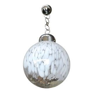Murano Glass Globe Pendant by Venini For Sale