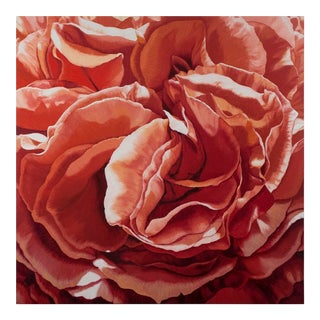 """Courage of Heart"" Contemporary Rose Painting For Sale"