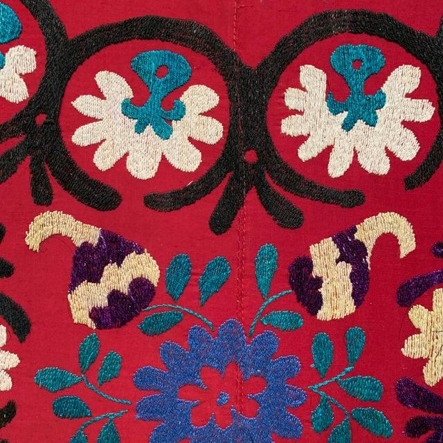 Boho Chic Vintage Suzani Wall Panel Headboard For Sale - Image 3 of 4