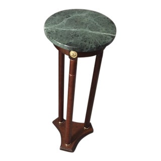 Elegant Green Marble Topped Plant Stand For Sale