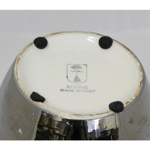 1980s Bitossi Silver Glaze Italian Ceramic Vase For Sale - Image 5 of 5
