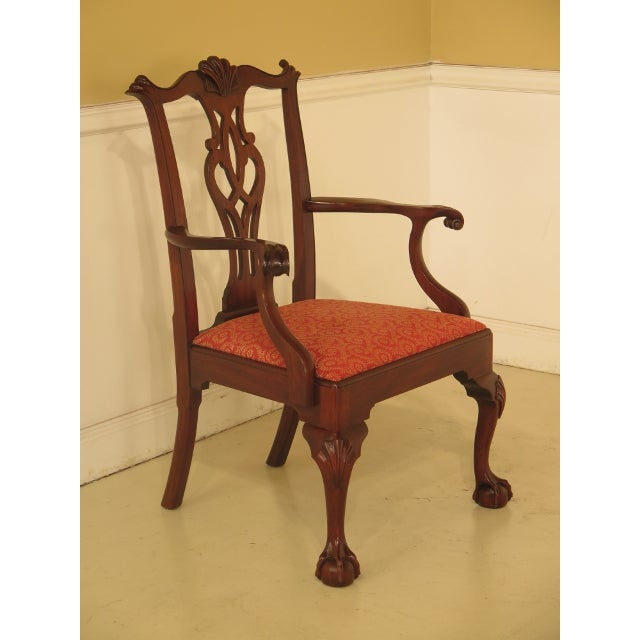 Henkel Harris 43475e Henkel Harris #112 Ball & Claw Mahogany Dining Room Chairs - Set of 8 For Sale - Image 4 of 11