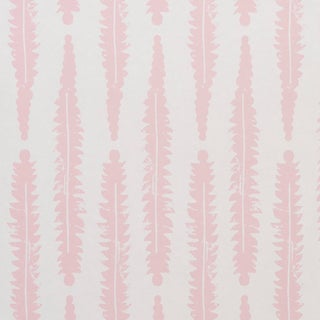 Sample - Schumacher x Molly Mahon Fern Wallpaper in Pink For Sale