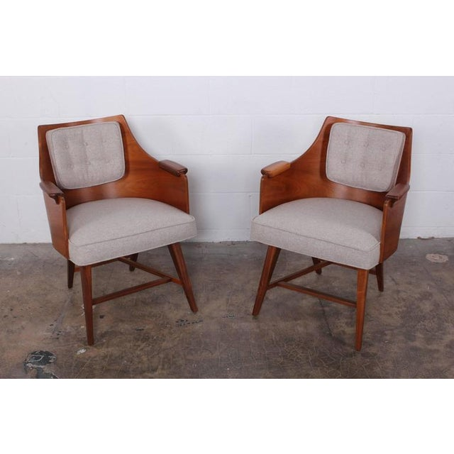 Rare Pair of Lounge Chairs by Edward Wormley for Dunbar - Image 2 of 10