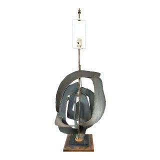 Richard Barr for Laurel Lamp Studio Collection Large Brutalist Table Lamp, 1963 For Sale