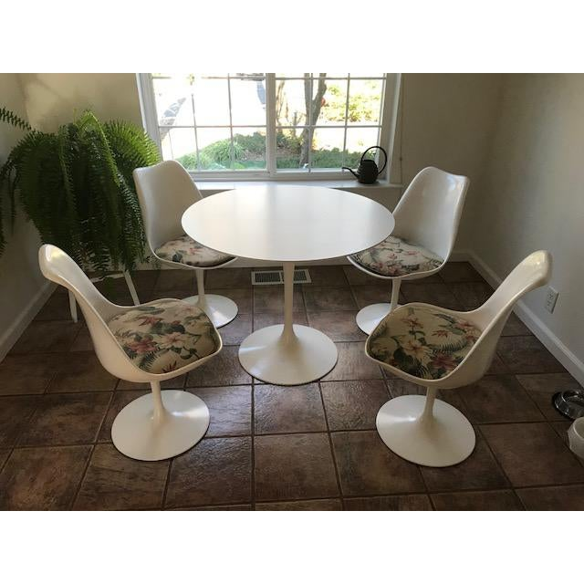 MidCentury Knoll Tulip Table Chairs Set Of Chairish - Knoll tulip table and chairs