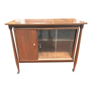 1960s Mid-Century Modern Walnut Bar Cart