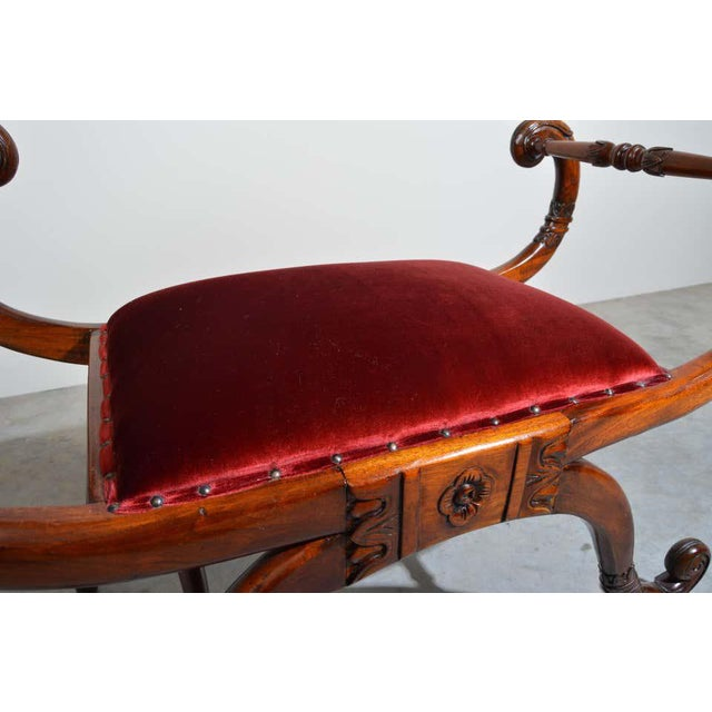 Neoclassical Regency Neoclassical Style Scrolled Arm Bench or Chair For Sale - Image 3 of 8