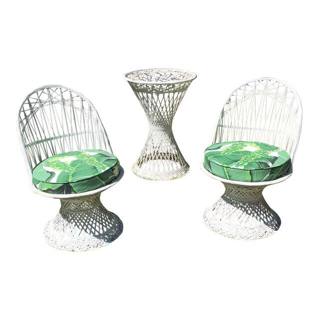 Vintage Spun Fiberglass Chairs & Table For Sale