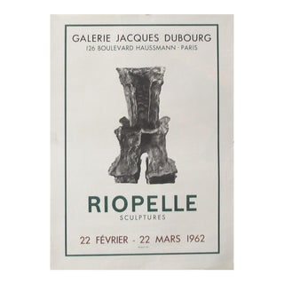 1962 Original Exhibition Poster - Riopelle, Galerie Jacques Dubourg For Sale