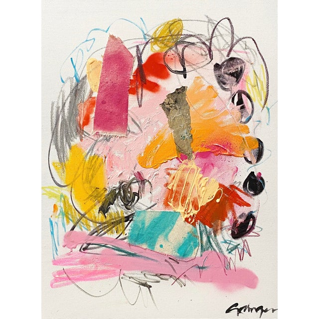 Abstract Lesley Grainger 'Sweet Surrender' Original Abstract Painting For Sale - Image 3 of 3