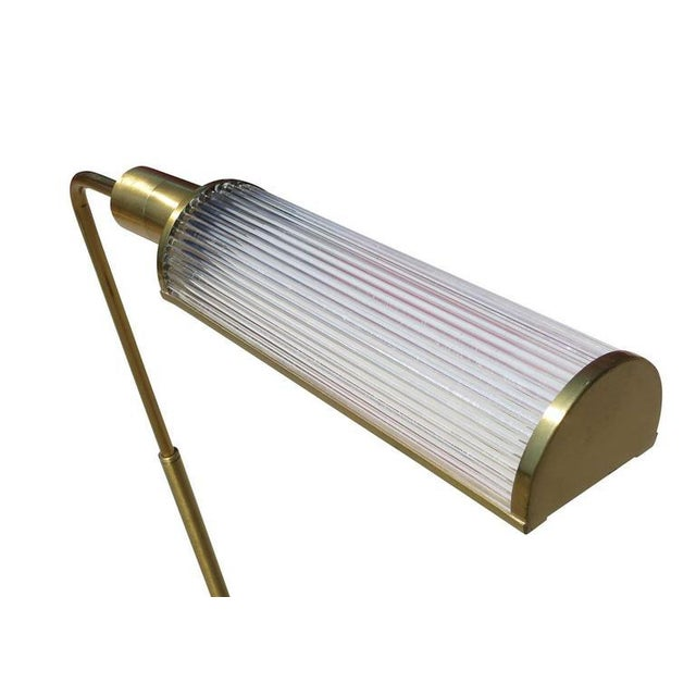 Brass Pharmacy Floor Lamp with Glass Rod Shade by Casella For Sale In Los Angeles - Image 6 of 6