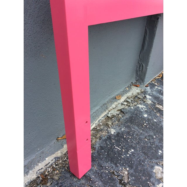 20th Century Hollywood Regency Hot Pink Lacquered Twin Headboard With Silver Leaf For Sale - Image 11 of 13