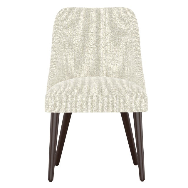 Textile Rounded Back Dining Chair in Solitude Natural For Sale - Image 7 of 7