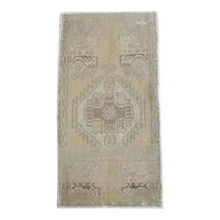 Hand Knotted Door Mat, Entryway Rug, Bath Mat, Kitchen Decor, Small Rug, Turkish Rug - 1′7″ × 2′11″ For Sale
