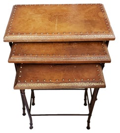 Image of Leather Nesting Tables