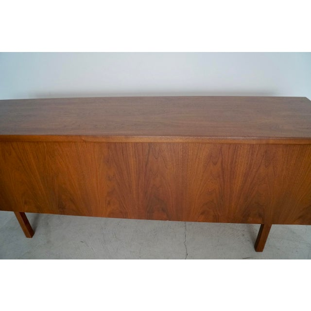 1960s Mid-Century Modern Refinished Walnut Credenza For Sale - Image 10 of 13