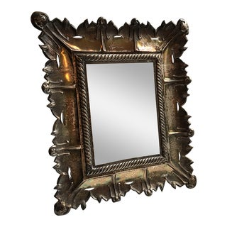 19th Century Silvered Tin Repoussé Mirror or Frame For Sale