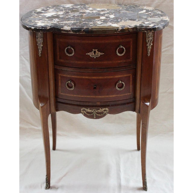 1920s Louis XVI Style Mahogany Marquetry Commode For Sale - Image 10 of 10