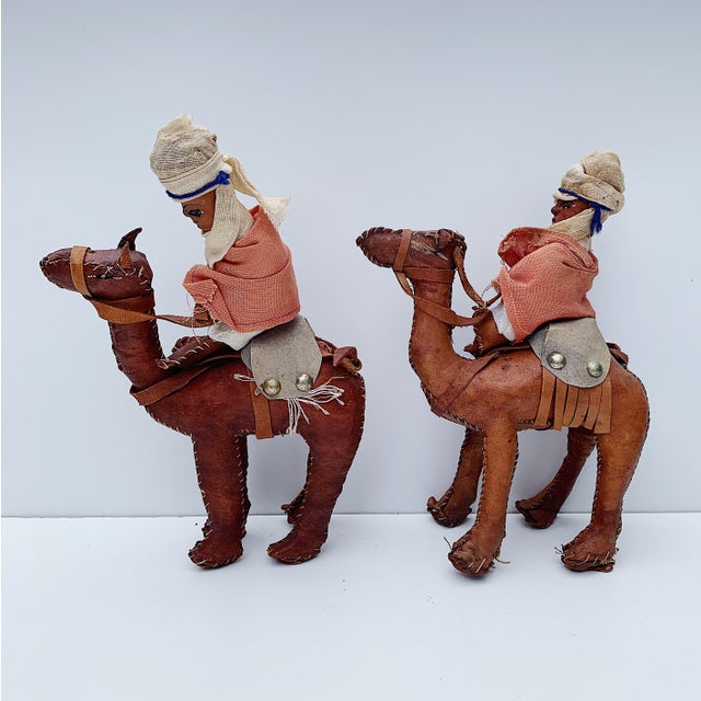 1980s Vintage Middle Eastern Leather Figurines - Set of 4 For Sale - Image 5 of 11