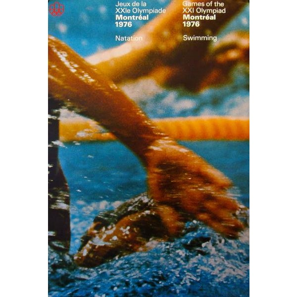 Contemporary 1976 Montreal Olympics Poster, Swimming (Large) - Cojo For Sale - Image 3 of 3