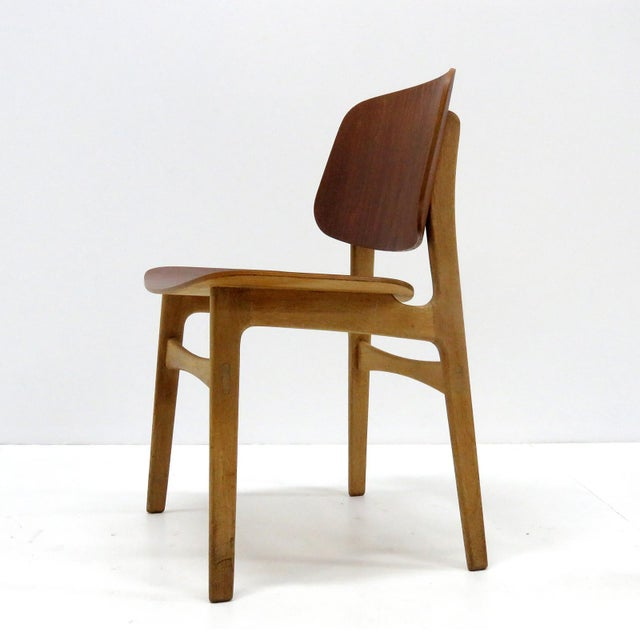 Set of 5 Børge Mogensen Dining Chairs, 1950s For Sale In Los Angeles - Image 6 of 13