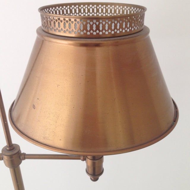 Brass Colored Tole Floor Lamp - Image 7 of 11