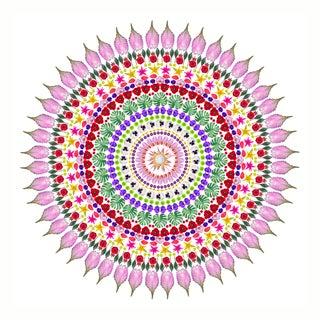 Flower Mandala Original Print For Sale