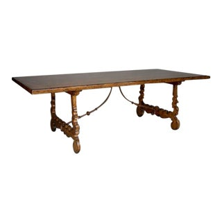Walnut Lyre Leg Table For Sale