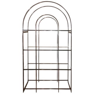 Milo Baughman Style Chrome Etagere For Sale