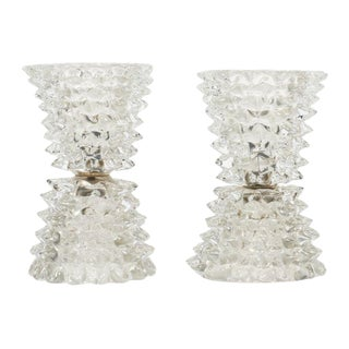 Vintage Murano Glass Lamps by Barovier For Sale