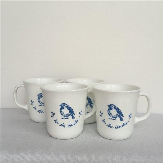 Vintage Blue & White Coffee Cups - Set of 4 - Image 7 of 11