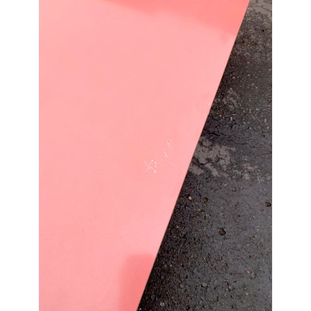 1980s Post Modern Pink Laminate Waterfall Coffee Table For Sale In Portland, OR - Image 6 of 7