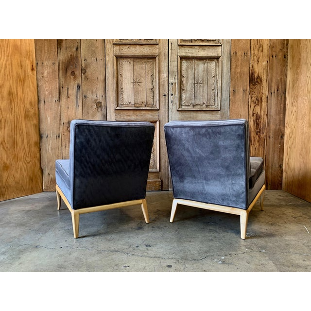 T.H. Robsjohn-Gibbings Vintage Mid Century Slipper Chairs- A Pair For Sale - Image 4 of 6