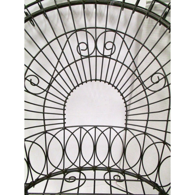 Victorian Style Black Wire Garden Chair - Image 3 of 6