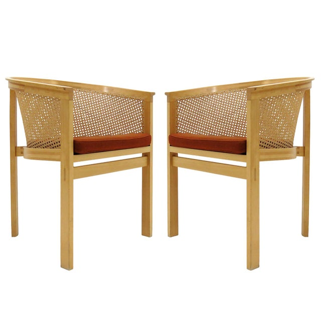1980s Vintage Rud Thygesen & Johnny Sørensen Model 7703 King Series Armchairs- A Pair For Sale - Image 13 of 13