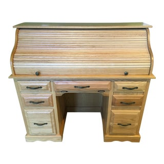 Amish-Made Oak Rolltop Desk
