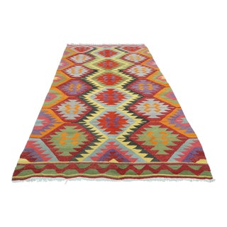 Mid 20th Century Turkish Kilim Rug All-Over Designed For Sale