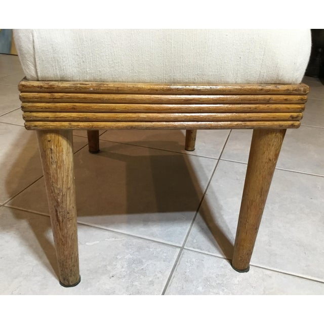 1960s Vintage Upholstered American Sitting Stool For Sale - Image 5 of 13