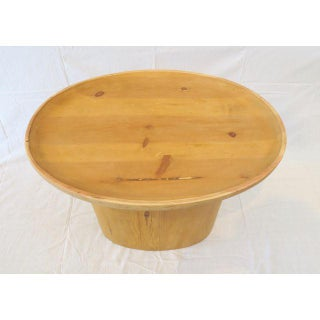 Modern Waxed Pine Oval Side Table by Martin and Brockett Preview
