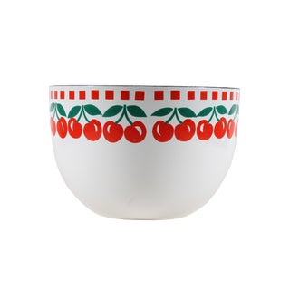 Mid 20th Century Kaj Franck Arabia Finland Cherry Enamel Bowl For Sale